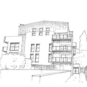 Projet du cabinet d'architecture Chelouti à Croix