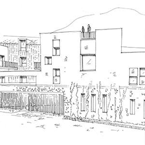 Projet du cabinet d'architecture Chelouti à Roubaix