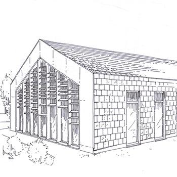 Projet du cabinet d'architecture Chelouti à Boesghem