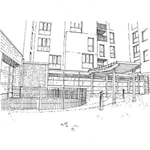 Projet du cabinet d'architecture Chelouti à La Crêche Magenta de Lille