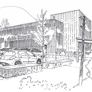 Salle polyvalente TOURMIGNIE - Projet du cabinet d'architectes Chelouti Tourcoing