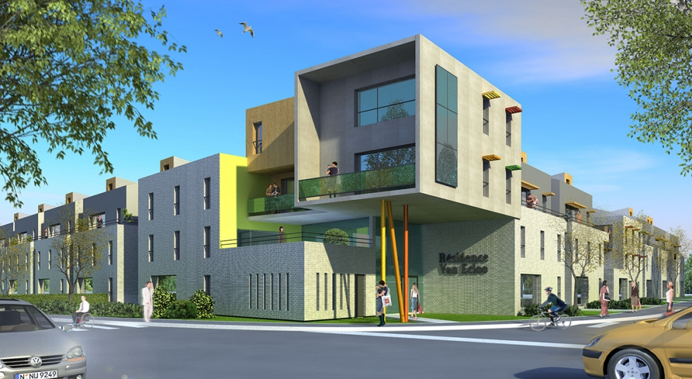 60 Logements collectifs à GRANDE SYNTHE - Projet du cabinet d'architectes Chelouti Tourcoing