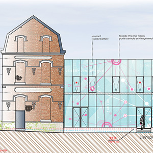 Pole numérique Culturel LENS - Projet du cabinet d'architectes Chelouti Tourcoing