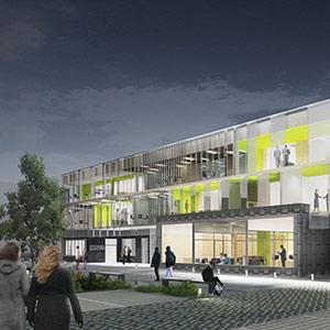 Hôtel d'Entreprises Numérique à ARCQUES - Projet du cabinet d'architectes Chelouti Tourcoing