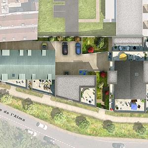 66 logements ROUBAIX - Projet du cabinet d'architectes Chelouti Tourcoing