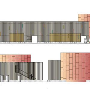 salle polyvalente tourmignie projet du cabinet d 39 architectes chelouti tourcoing chelouti. Black Bedroom Furniture Sets. Home Design Ideas