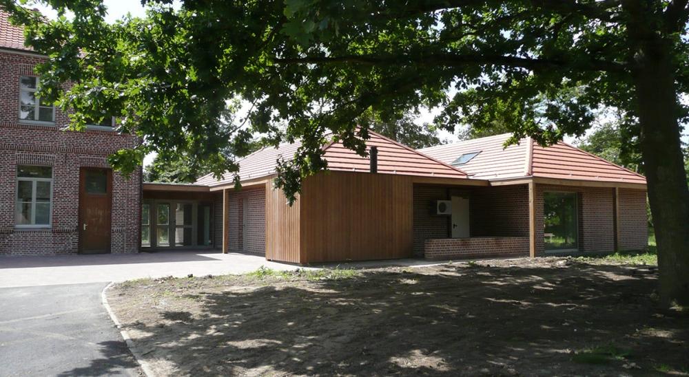 Restaurant scolaire Cobrieux - Projet du cabinet d'architectes Chelouti Tourcoing