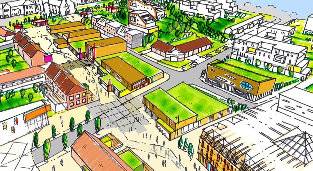 Quartier de Saint Amé à Lievin - Projet du cabinet d'architectes Chelouti Tourcoing